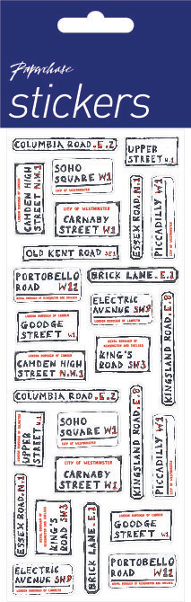 london streets stickers