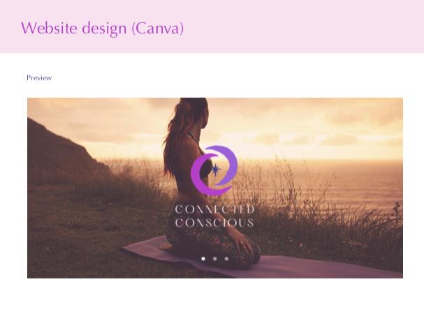 Connected Conscious - website design