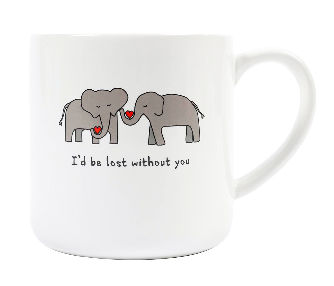 lost without you mug