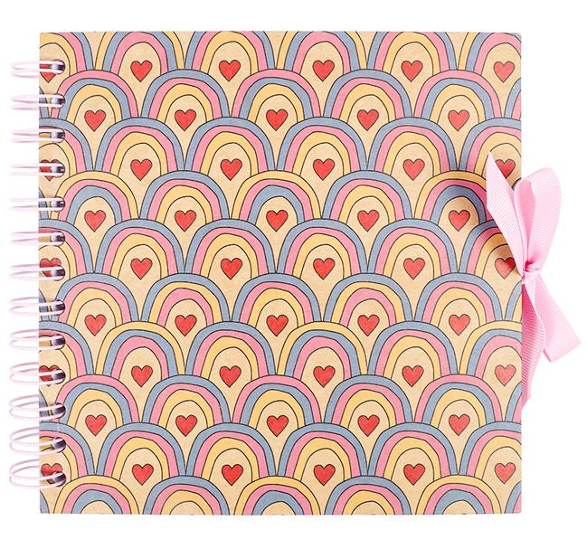 rainbow heart scrapbook