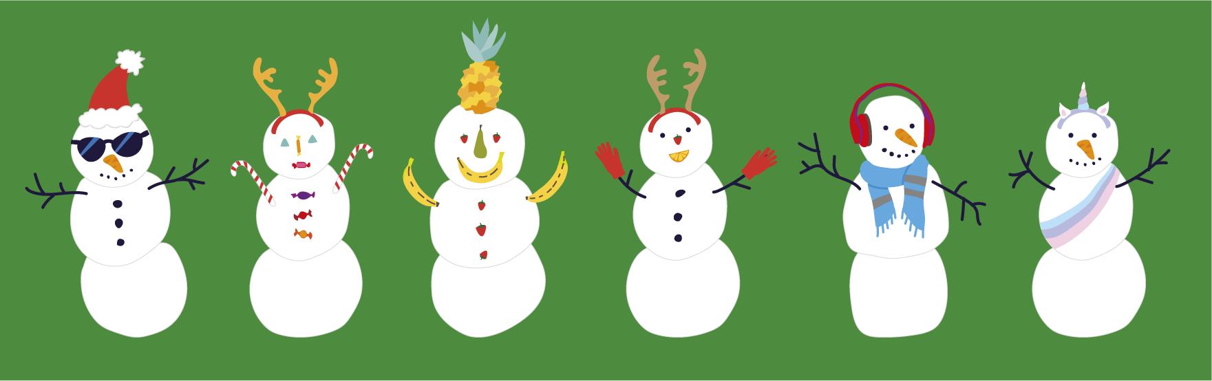 Christmas snow mates