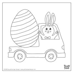 easter bunny colouring sheet