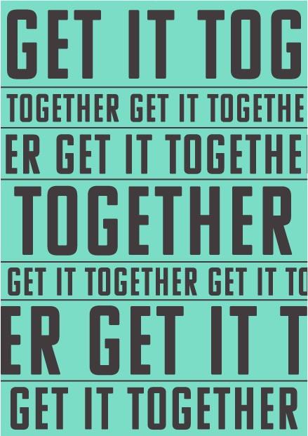 get it together postcard
