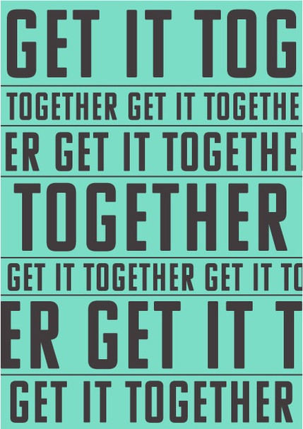 get it together postcard