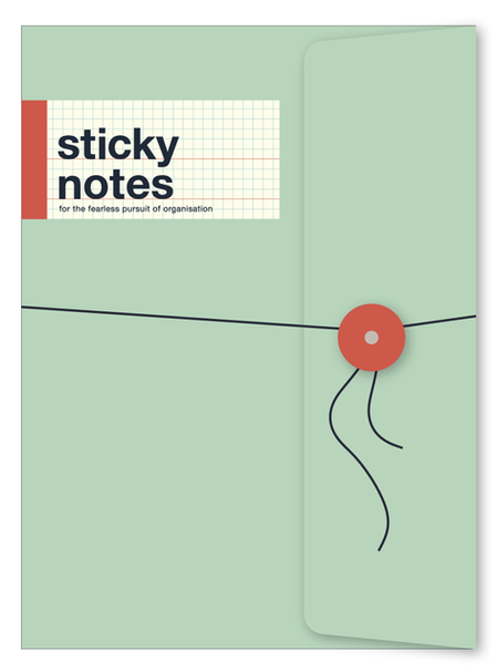 sticky notes book - cover