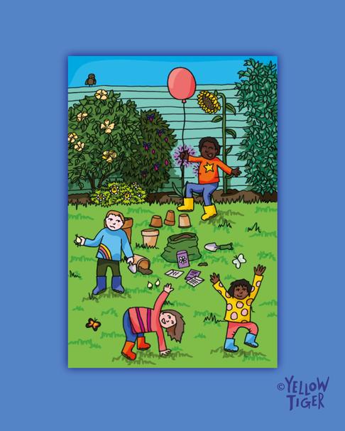 Kids postcard