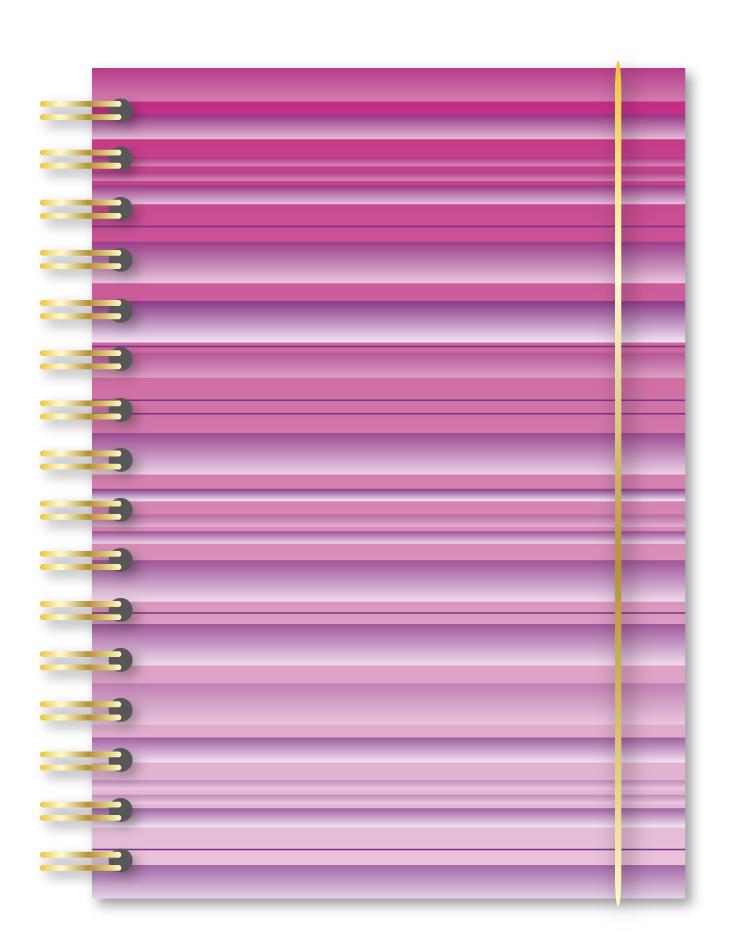 gradient stripe notebook