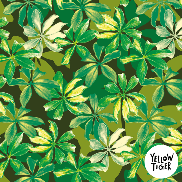 sketchy leaf detail