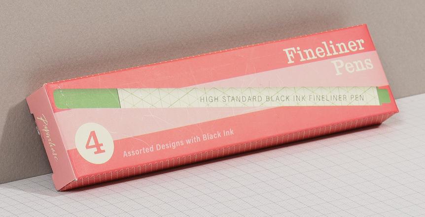 fineliner packaging