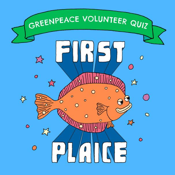 Greenpeace volunteer quiz graphic