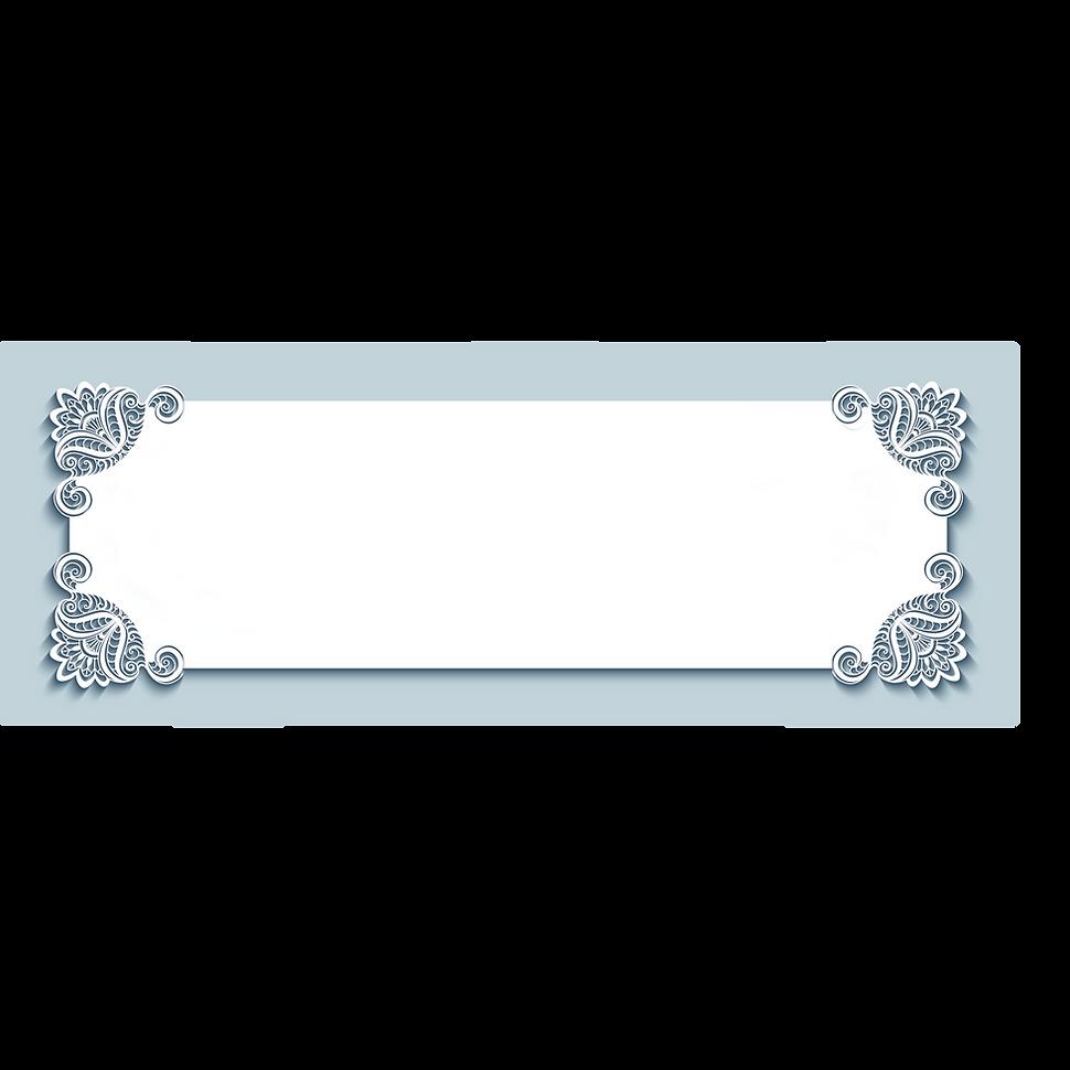 装飾用 フレーム ブルー 白shutterstock_503114320.png