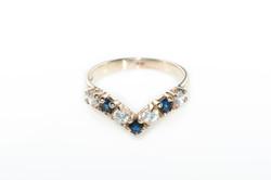 Sapphire & zircon ring