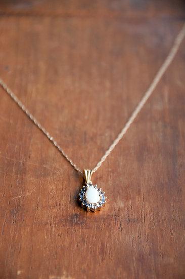 Opal & amethyst neckalce