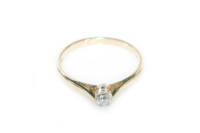 Diamond solitaire - SOLD