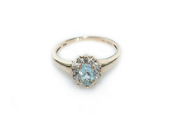 Diamond & aquamarine ring