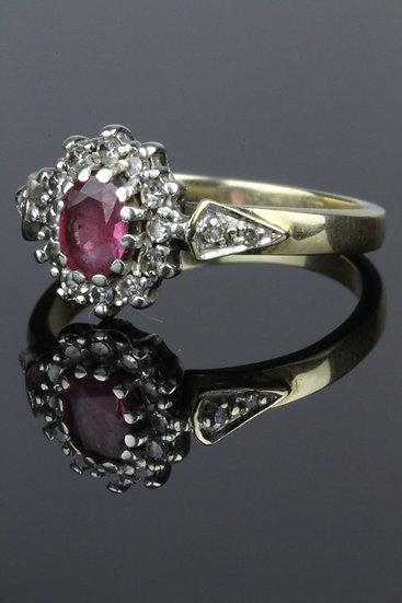 Tourmaline & diamond engagement ring