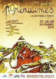 Affiche Festival Pyrénicimes 2016 par Seb Cazes