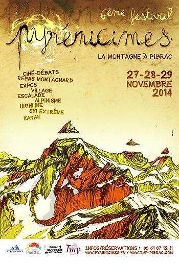 Pyrenicimes 2014 Affiche Basse-Def par Seb Cazes