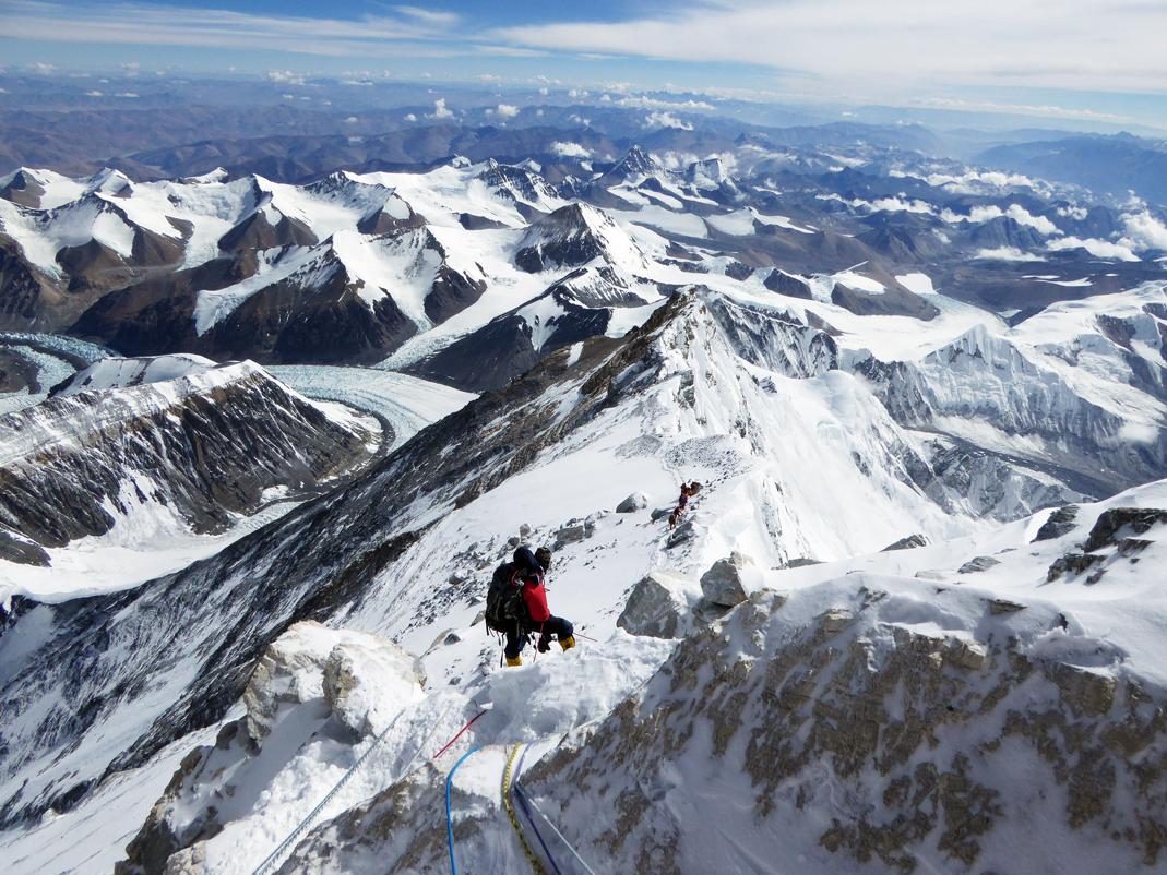 Descente de l'Everest