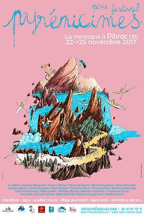 Affiche Pyrénicimes 2017 by Seb Cazes