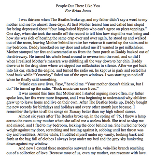 """Excerpt from """"People Out There Like You"""""""