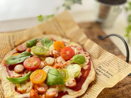 オーブン要らず!フライパンで本格ピザ