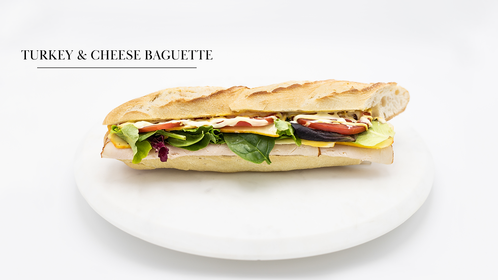 Turkey & Cheese Baguette