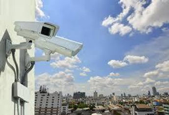 security system with surveillance cameras and CCTV