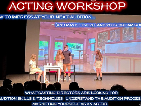 ACTING WORKSHOP | AUDITION WORKSHOP | SCHOOL HOLIDAYS | TIPS AND TRICKS TO LAND YOUR NEXT BIG ROLE!