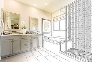 Custom Master Bathroom Design Drawing Gr