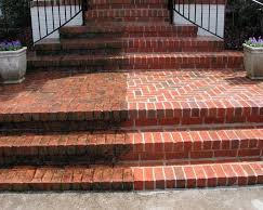 POwerwashed Brick Steps in Osterville