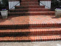 Power Washed Brick Steps in Osterville