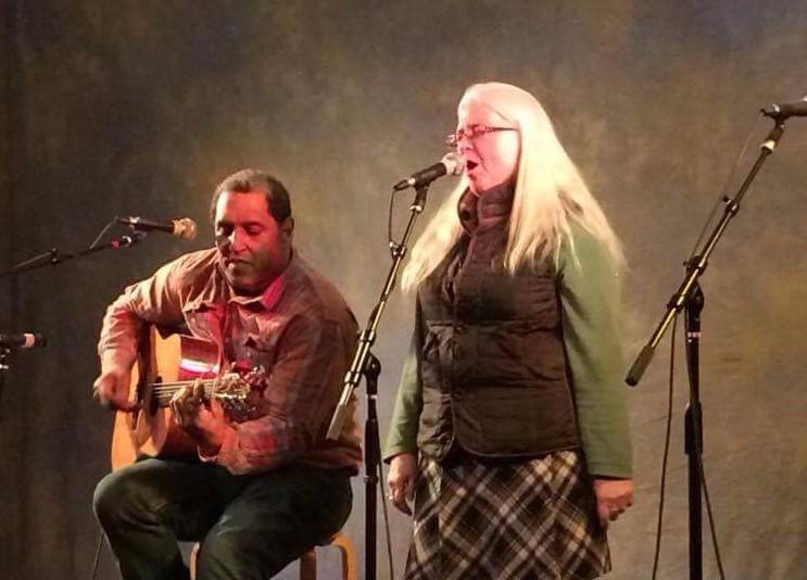 Karen Woodhall and David Jackson