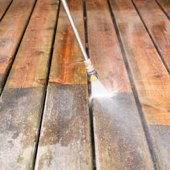 Powerwashed Deck in Barnstable