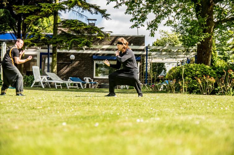 SFA training in the garden