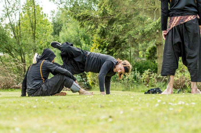 Ground training in the garden
