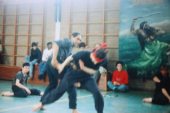 Silat demonstration (first generation -