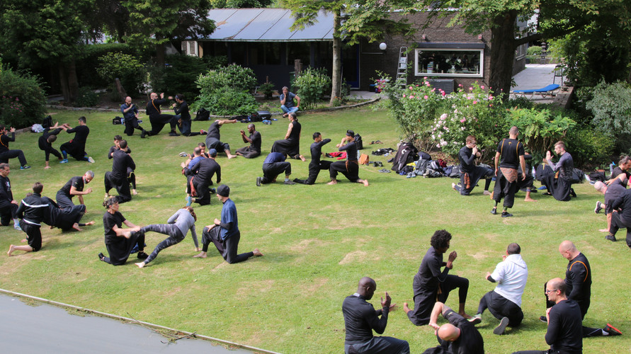 Training in the gardens