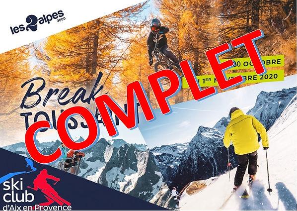 Affiche 2 Alpes TOUSSAINT 2020 - COMPLET
