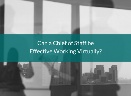 Can a Chief of Staff be Effective Working Virtually?