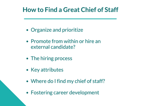 How to Find a Great Chief of Staff