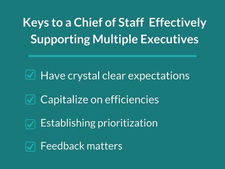 How Can a Chief of Staff Effectively Support Multiple Executives?