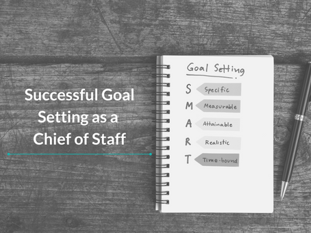 How to Create SMART Goals as a Chief of Staff