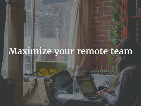 Tips for Working with a Remote Team