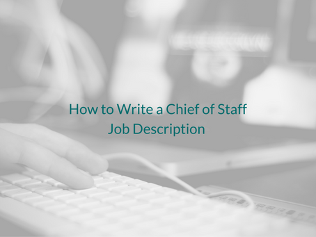 How to Write a Chief of Staff Job Description
