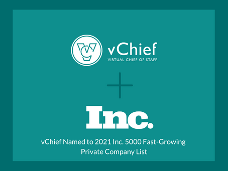 vChief Included on the 2021 Inc. 5000 Fastest-Growing Private Company List