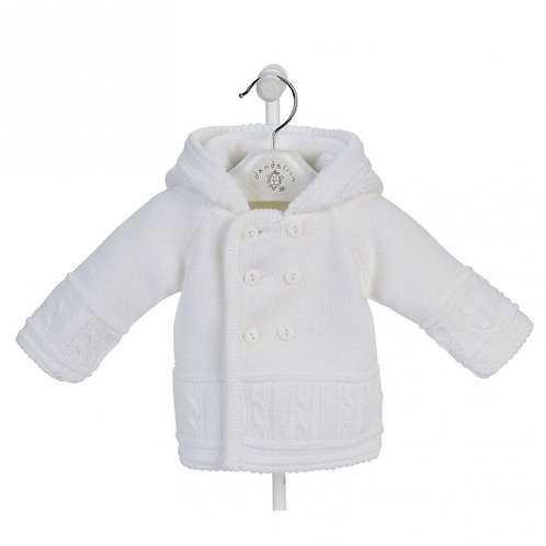 Knitted Baby Jackets (White, Pink, Blue)