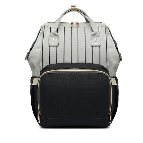 Grey and Black Changing Backpack