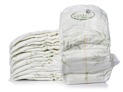 Mama Bamboo Eco-Friendly Nappies Size 1 Pack of 35