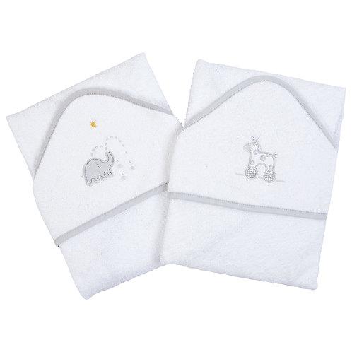 Hooded Applique Bath Towel